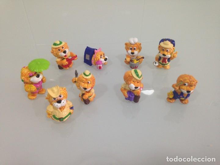 KINDER,LEONES , 9 FIGURAS (Juguetes - Figuras de Gomas y Pvc - Kinder)
