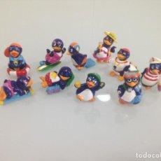 Figuras Kinder: KINDER, PINGUINOS, 10 FIGURAS. Lote 125751651