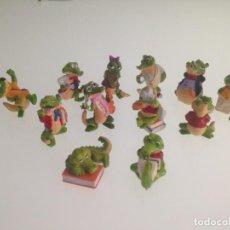 Figuras Kinder: KINDER, COCODRILOS, 12 FIGURAS. Lote 125752535