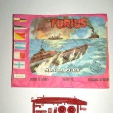 Figuras de Goma y PVC: SOBRE MONTAPLEX Nº 441 FURIUS - VACÍO + COLADA DEL SUBMARINO FURIUS. Lote 125894207