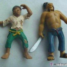 Figuras de Goma y PVC: LOTE DE 2 FIGURAS DE PIRATAS . DE BULLY LAND , GERMANY .. PINTADOS A MANO.. Lote 125953863