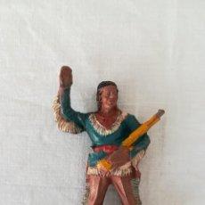 Figuras de Goma y PVC: FIGURA DE WINNETOU DE LAFREDO SERIE ANTIGUA FABRICADA EN GOMA. Lote 125996651