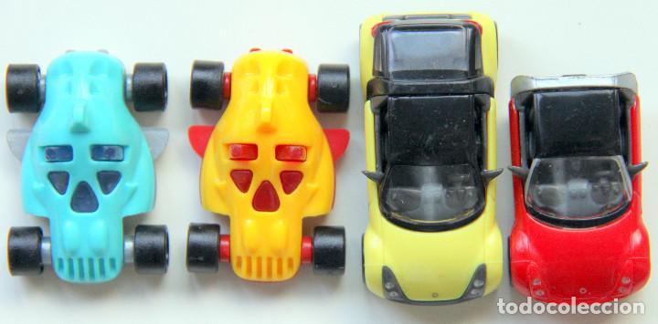 KINDER - LOTE 2 COCHES SMART AMARILLOS (Juguetes - Figuras de Gomas y Pvc - Kinder)