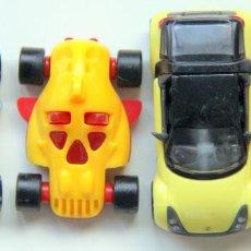 Figuras de Borracha e PVC: KINDER - LOTE 2 COCHES SMART AMARILLOS. Lote 126215699