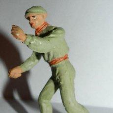 Figuras de Goma y PVC: ANTIGUO FIGURA MOZO DE MULAS O MONOSABIO, CORRIDA DE TOROS TEIXIDOR, REALIZADO EN GOMA, AÑOS 60. BUE. Lote 126333887
