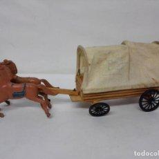 Figuras de Goma y PVC: CARRETA DEL OESTE DE LAFREDO, LA GRANDE 29 CMS. AÑOS 60.. Lote 126564151