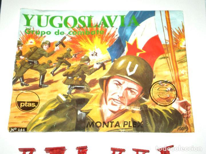 Figuras de Goma y PVC: MONTAPLEX SOBRE Nª 144 YUGOSLAVIA VACÍO + 1 COLADA DE SOLDADOS YUGOSLAVOS - Foto 2 - 126567507