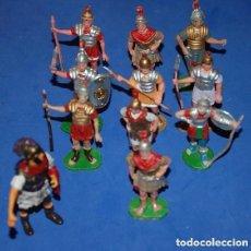 Figuras de Goma y PVC: LOTE DE 10 FIGURAS DE SOLDADOS ROMANOS DE REAMSA/GOMARSA/OLIVER AÑOS 60/70. Lote 126601143