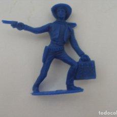 Figuras de Goma y PVC: VAQUERO LADRÓN DE BANCOS PLÁSTICO MONOCOLOR AÑOS 70 . Lote 126717179