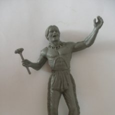Figuras de Goma y PVC: GUERRERO INDIO ( 12 CM ) PLÁSTICO MONOCOLOR KIOSKO AÑOS 60 - 70 SIN USO. Lote 126719791