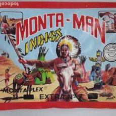 Figuras de Goma y PVC: SOBRE MONTA MAN EXTRA 7 INDIOS FIGURA MONTAMAN MONTAPLEX MONTA PLEX CERRADO. Lote 183023533