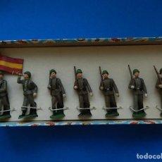 Figuras de Goma y PVC: CAJA DE SOLDADOS BRUVER. REF. 125. EJÉRCITO ESPAÑOL.. Lote 126810135