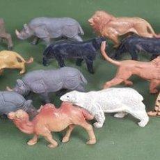 Figuras de Goma y PVC: COLECCIÓN DE 18 FIGURAS DE ANIMALES EN RESINA. OMO. CIRCA 1950. . Lote 126930607