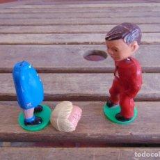 Figuras de Goma y PVC: 2 FIGURAS E PLASTICO DURO MARCADAS MAGNETO WESTERN GERMANY. Lote 126931931