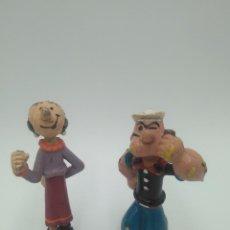 Figuras de Borracha e PVC: FIGURAS PVC POPEYE Y OLIVIA ANTIGUAS. Lote 126977655