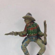 Figuras de Goma y PVC: VAQUERO PARA CABALLO . REALIZADO POR TEIXIDO . AÑOS 50 EN GOMA. Lote 127486223