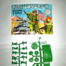 Figuras de Goma y PVC: MONTAPLEX SOBRE Nª 3007 NORTEAMERICA EJERCITO Y ARMAS VACIO + COLADAS DE SOLDADOS Y SHERMAN. Lote 127509955