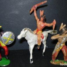 Figuras de Goma y PVC: LOTE FIGURAS DE PLÁSTICO, INDIOS DE COMANSI. Lote 127591462