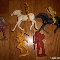 Figuras de Goma y PVC: LOTE INDIOS TIPO LAFREDO TAMAÑO GRANDE SIN PINTAR PIPERO KIOSCO INDIOS Y VAQUEROS MADE IN SPAIN. Lote 127684607