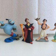 Figuras de Goma y PVC: FIGURAS ALADDIN - ALADDIN, GENIO, JAZMIN Y JAFAR - BULLYLAND. Lote 127732699