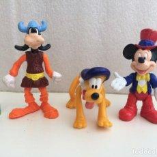 Figuras de Goma y PVC: DISNEY - LOTE FIGURAS ARTICULADAS - PLUTO, MICKEY Y GOOFY. Lote 127837263