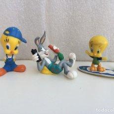 Figuras de Goma y PVC: BULLYLAND WARNER BROS - LOONEY TUNES - PIOLIN Y BUGS BUNNY. Lote 127841283