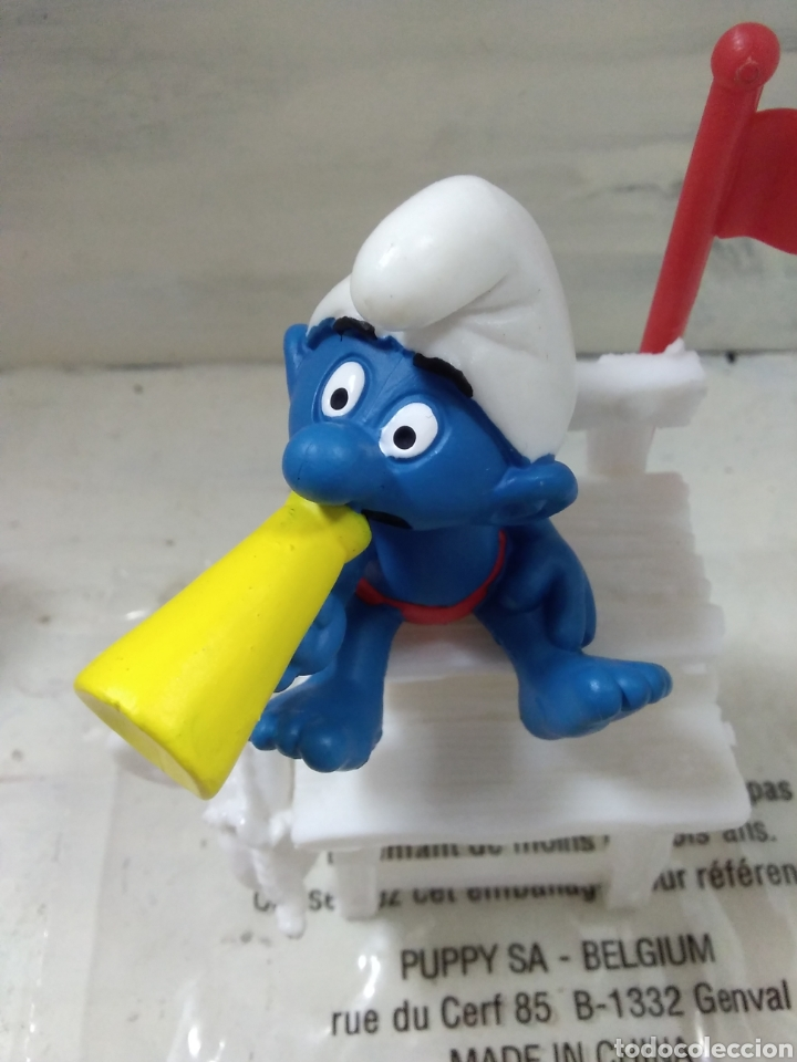 Figuras de Goma y PVC: PITUFO SOCORRISTA SCHLEICH. - Foto 2 - 127869020