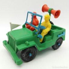 Figuras de Goma y PVC: JEEP SOTORRES, JUGUETE ANTIGUO AÑOS 70 FABRICADO EN ESPAÑA, NUEVO A ESTRENAR. Lote 127871515