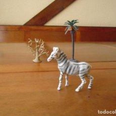 Figuras de Goma y PVC: ANTIGUA FIGURA DE UNA CEBRA EN GOMA O PLÁSTICO. AÑOS 60-70. Lote 127974795