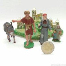 Figuras de Goma y PVC: ESCENA BELÉN PESEBRE SOTORRES NUEVO A ESTRENAR - FIGURAS PINTADAS A MANO. Lote 127976460
