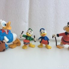 Figuras de Goma y PVC: FIGURAS DE DONALD, SOBRINOS Y TIO GILITO. Lote 128000819