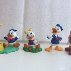 Figuras de Goma y PVC: BULLYLAND - DONALD, DAISY, SOBRINO DE DONALD Y ROSITA SOBRINA DE DAISY. Lote 128001859