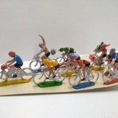 Figuras de Goma y PVC: PELOTÓN CICLISTA SOTORRES. Lote 128038939