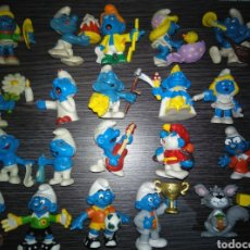 Figuras de Goma y PVC Schleich: LOS PITUFOS JOB LOT OF SMURFS X 25 LOT , SCHLEICH AND VINTAGE 1970S. Lote 128054886