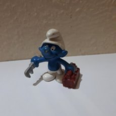 Figuras de Goma y PVC Schleich: PITUFO PVC TRABAJADOR. Lote 128058115
