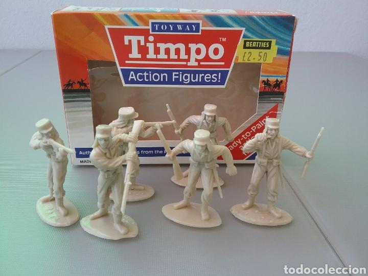 TIMPO, SOLDADOS, LEGIÓN EXTRANJERA FRANCESA , CAJA ORIGINAL , LEGIONARIOS TAMAÑO BRITAINS, FSP (Juguetes - Figuras de Goma y Pvc - Starlux)