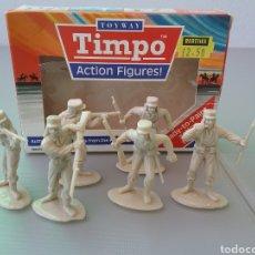 Figuras de Goma y PVC: TIMPO, SOLDADOS DE LA LEGIÓN EXTRANJERA FRANCESA , CON CAJA ORIGINAL , LEGIONARIOS TAMAÑO BRITAINS. Lote 128105536