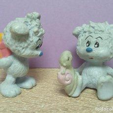 Figuras de Goma y PVC Schleich: LOTE DOS FIGURAS OSO AZUL PVC AÑOS 80 SCHLEICH GERMANY AÑOS 80.. Lote 128122467