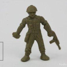 Figuras de Goma y PVC: FIGURITA DE PLÁSTICO DUNKIN - SOLDADO AMERICANO - HAZAÑAS Y COMBATES - MEDIDAS 3,5 CM. Lote 128242603