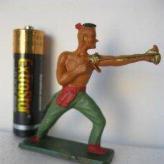 Figuras de Goma y PVC: FIGURA PINTADA INDIO .---- STARLUX VER FOTO ADICIONAL. Lote 128258195
