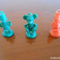 Figuras de Goma y PVC: RARISIMAS FIGURAS DE MICKEY Y DONALD TIPO DUNKIN. Lote 128279099