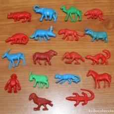 Figuras de Goma y PVC: LOTE ANIMALES DUNKIN TITO MATUTANO ORZOWEI TARZAN. Lote 128293167