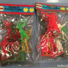 Rubber and PVC Figures - PACK BOLSA FIGURAS PVC NOVOLINEA COMANSI AÑOS 70 - 128389831