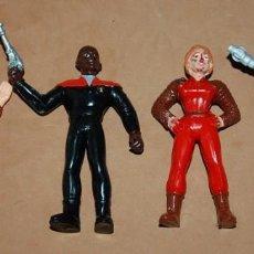 Figuras de Goma y PVC: LOTE DE CUATRO FIGURAS DE GOMA STAR TREK MARCA YOLANDA 1994. Lote 128579015
