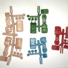 Figuras de Goma y PVC: MONTAPLEX - 5 COLADAS DE MINI-CAMIONES. Lote 128580739