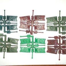 Figuras de Goma y PVC: MONTAPLEX - 6 COLADAS DE 4 MINI-TANQUES. Lote 128581471