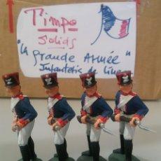 Figuras de Goma y PVC: TIMPO, SOLDADOS INFANTERÍA FRANCESA, GUERRAS NAPOLEÓNICAS, WATERLOO, COMP.LAFREDO TAMAÑO BRITAINS. Lote 128646900