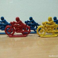 Figuras de Goma y PVC: LOTE DE 5 MOTORISTAS PIPEROS TIPO MONTAPLEX. Lote 128668279