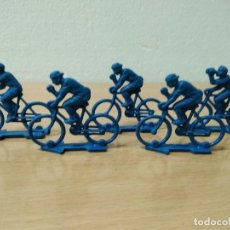 Figuras de Goma y PVC: LOTE DE 5 CICLISTAS PIPEROS TIPO MONTAPLEX. Lote 128668731
