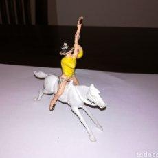 Figuras de Goma y PVC: VAQUERO A CABALLO DE JECSAN AÑOS 60 MADE IN SPAIN INDIOS Y VAQUEROS. Lote 128747906